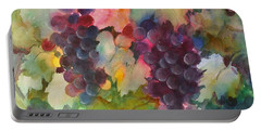 Grapes In Light Portable Battery Charger by Michelle Abrams