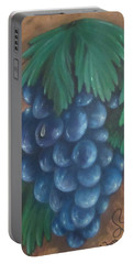 Grapes With Dewdrop Portable Battery Charger