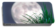 Grass Blades With Full Moon Portable Battery Charger