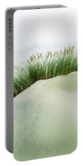 Grass On The Sand Dunes With Fog Portable Battery Charger