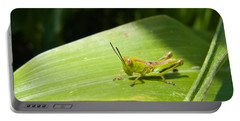 Grasshopper On Corn Leaf   Portable Battery Charger