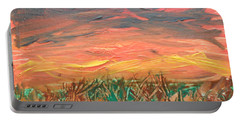 Grassland Sunset Portable Battery Charger