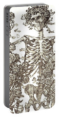 Gratefully Dead Skeleton Portable Battery Charger by Kelly Awad