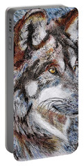 Gray Wolf Watches And Waits Portable Battery Charger