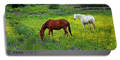 Grazing Amongst The Wildflowers Portable Battery Charger