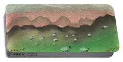Grazing In The Hills Portable Battery Charger by Tracey Williams