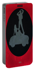 Portable Battery Charger featuring the digital art Grease Movie Poster by Brian Reaves