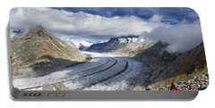 Great Aletsch Glacier Swiss Alps Switzerland Europe Portable Battery Charger