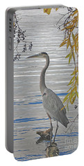 Great Blue Heron Portable Battery Charger by Ann Horn