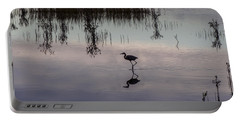 Great Blue Heron At Sundown Portable Battery Charger