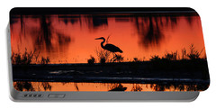 Great Blue Heron At Sunrise Portable Battery Charger