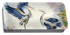 Great Blue Heron Couple Portable Battery Charger