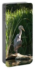 Great Blue Heron Portable Battery Charger by Ellen Henneke