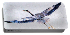 Portable Battery Charger featuring the photograph Great Blue Heron by John Freidenberg