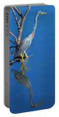 Tricolored Heron Portable Battery Charger by Nikolyn McDonald