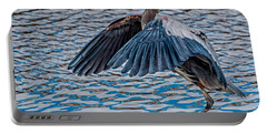 Great Blue Heron Pose Portable Battery Charger