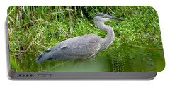 Great Blue Heron  Portable Battery Charger by Susan Garren
