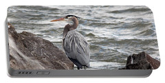 Portable Battery Charger featuring the photograph Great Blue Heron by Trina  Ansel