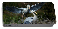 Great Blue Herons Nesting Portable Battery Charger