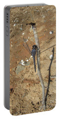 Slaty Skimmer Dragonfly Shadow Portable Battery Charger by Donna Brown