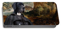 Great Dane Art - The Boar Hunt Portable Battery Charger