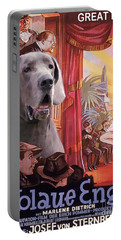 Great Dane Art Canvas Print - Der Blaue Engel Movie Poster Portable Battery Charger
