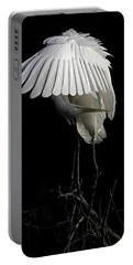 Great Egret Bowing Portable Battery Charger