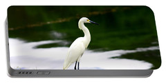 Great Egret Portable Battery Charger by Debra Forand