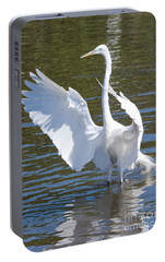 Great Egret Symphony Portable Battery Charger by Carol Groenen