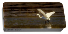 Great Egret Taking Off Portable Battery Charger