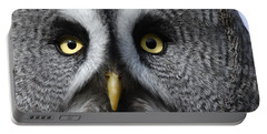 Great Grey Owl Finland Portable Battery Charger