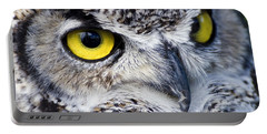 Great Horned Closeup Portable Battery Charger
