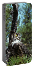 Great Horned Owl Bubo Virginiansis Portable Battery Charger