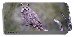 Portable Battery Charger featuring the photograph Great Horned Owl by Dan McManus
