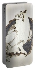 Great Horned Owl Portable Battery Charger by Terry Frederick