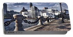 Portable Battery Charger featuring the photograph Great Lakes Science Center - Cleveland Ohio - 1 by Mark Madere