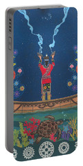 Portable Battery Charger featuring the painting Great Teacher - Sedwa'gowa'ne by Chholing Taha