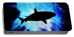 Portable Battery Charger featuring the painting Great White by Aaron Berg