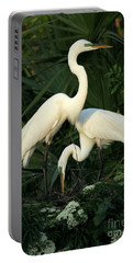 Great White Egret Mates Portable Battery Charger