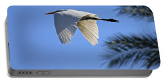 Portable Battery Charger featuring the photograph Great White In Flight by Penny Meyers