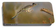Greater Roadrunner Leaping Portable Battery Charger