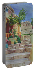 Portable Battery Charger featuring the painting Greece by Joshua Morton