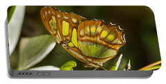 Green And Brown Tropical Butterfly Portable Battery Charger