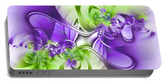 Green And Purple Portable Battery Charger