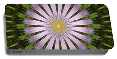 Green And Purple Starburst Portable Battery Charger