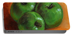 Green Apples Portable Battery Charger