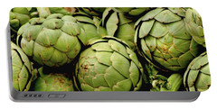 Green Artichokes Portable Battery Charger