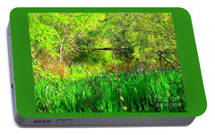 Portable Battery Charger featuring the photograph Green As Emerald's by Michael Hoard