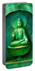 Green Buddha Portable Battery Charger by Sue Halstenberg