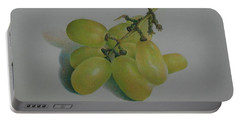 Green Grapes Portable Battery Charger by Pamela Clements